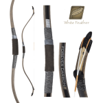 White Feather Forever Carbon Korean Traditional Bow
