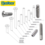 Beiter V-Box Screws and Thread-Adaptors