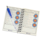 FIVICS/Soma Target Score Book with Ballpoint Pen