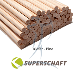 Superschaft Wooden Shaft Pine 32""